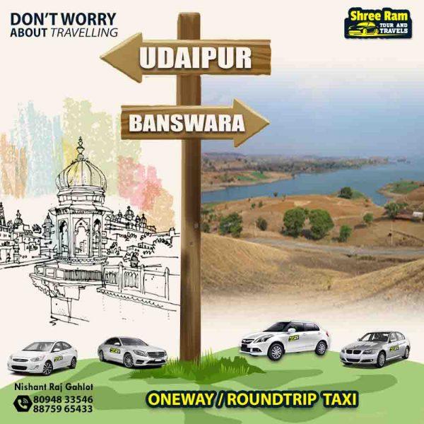 udaipur to banswara taxi
