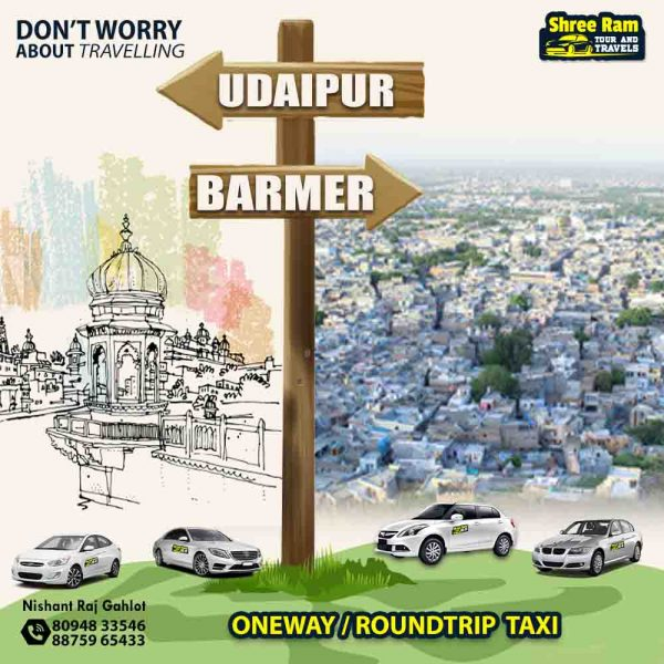 udaipur to barmer taxi