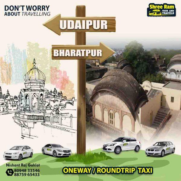 udaipur to bharatpur taxi