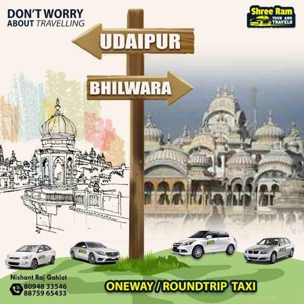 udaipur to bhilwara taxi