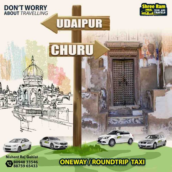 udaipur to churu taxi