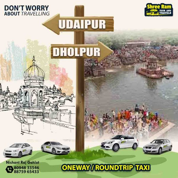 udaipur to dholpur taxi