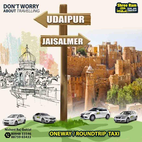 udaipur to jaisalmer taxi