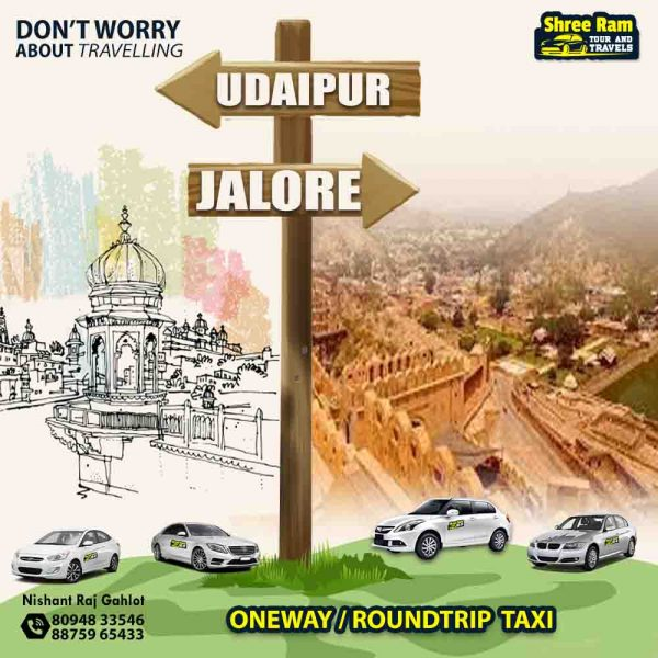 udaipur to jalore taxi