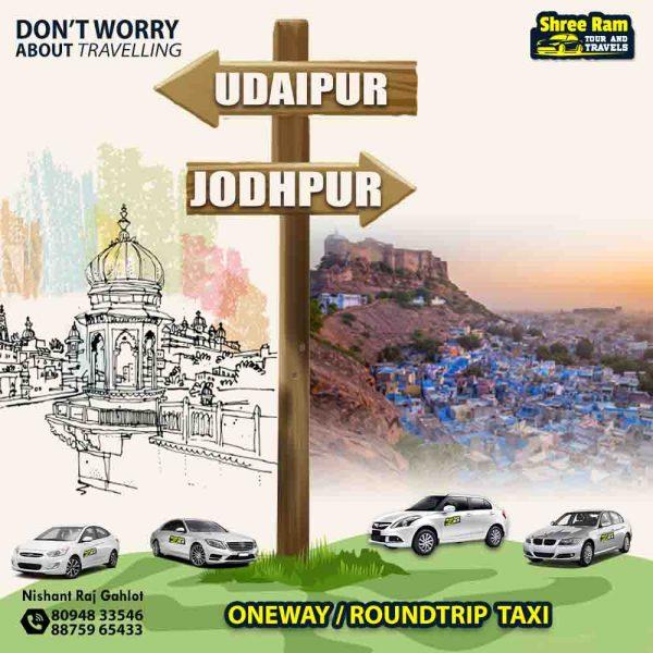 udaipur to jodhpur taxi