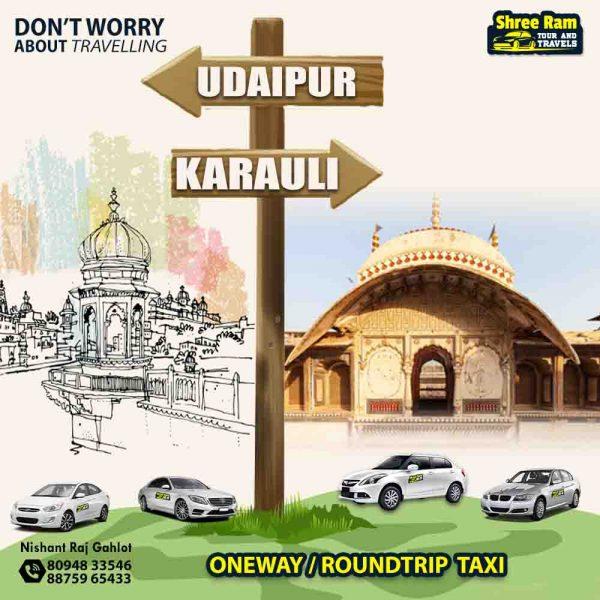 udaipur to karauli taxi