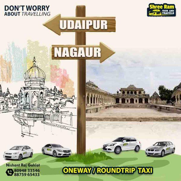 udaipur to nagaur taxi