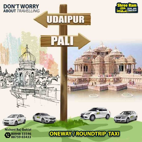 udaipur to pali taxi