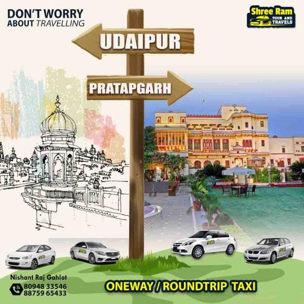 udaipur to pratapgarh taxi
