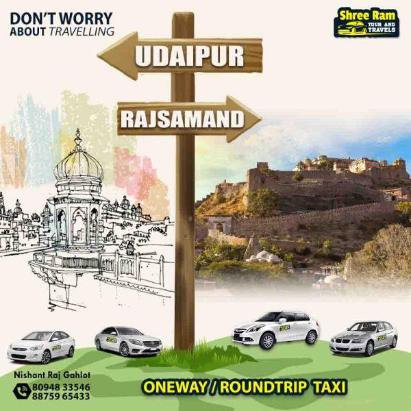 udaipur to rajsamand taxi