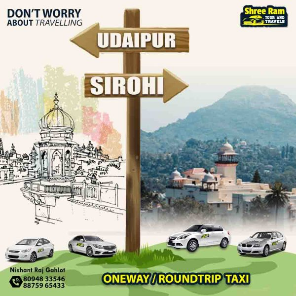 udaipur to sirohi taxi